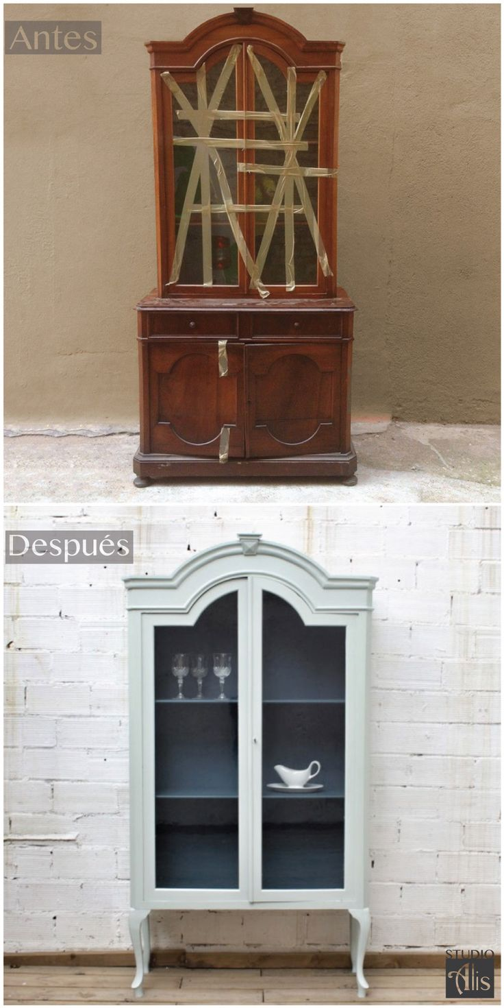 Antes y Después, Vitrina transformada y pintada. Studio Alis - Barcelona