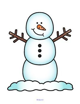 FREE Dress the snowman - cut out the decorations, arrange and paste them on the snowman mat.