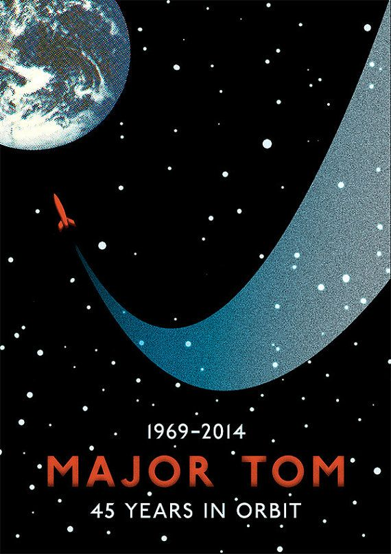 David Bowie 'Space Oddity' Poster Print Major Tom 45th Anniversary Commemorative…