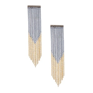 TWO-TONE FRINGE EARRINGS.: Isabel Style, Jewelry Inspiration, Two Ton Fringes, Fringes Earrings, Megan Murphy, Isabel Accessories