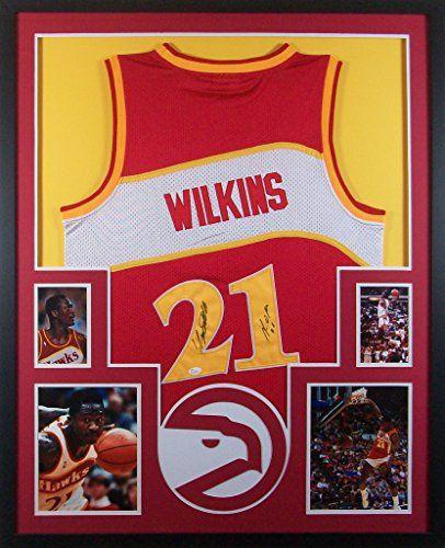 dominique wilkins framed jersey signed jsa coa autographed atlanta hawks mister mancave http
