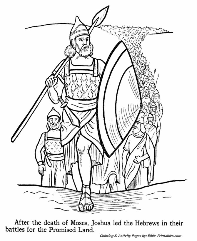 joshua 24 coloring pages - photo#23