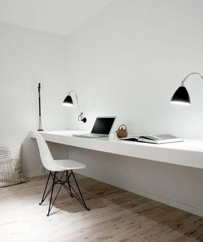 desk + lights