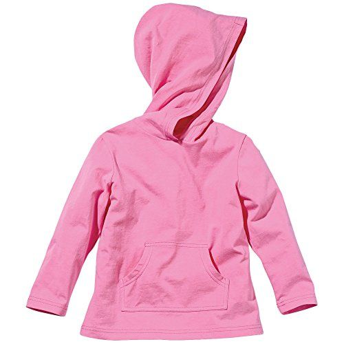 Pink Insect Shield Hooded Fleece Sweatshirt by Bug Smarties. Mosquito repellent clothing - Zika Virus. Deet free and bug spray free kids athletic clothing.