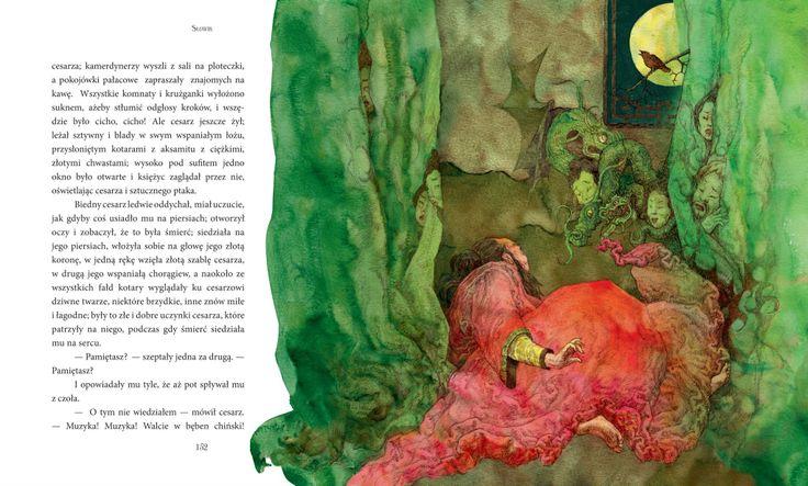 "Maja Chmura illustration for ""The Nightingale""."