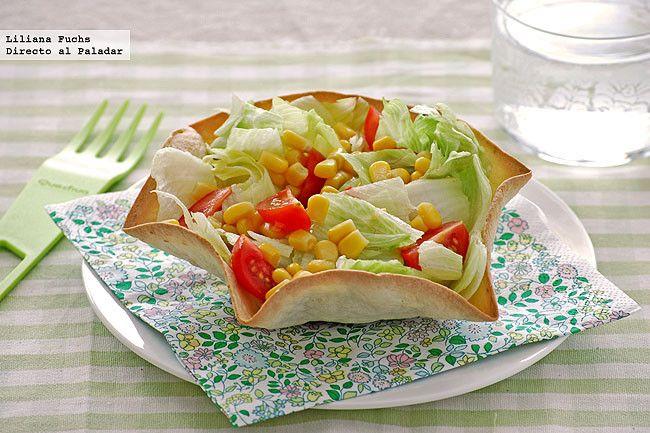 Cómo hacer cuencos comestibles para ensaladas
