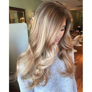 Smooth Dark Blonde Curls
