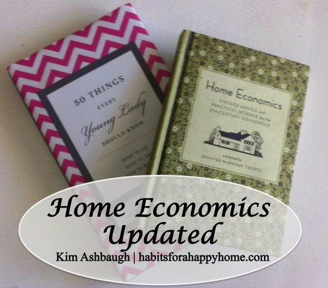Home Economics, Updated - How Kim Ashbaugh teaches this subject in her home