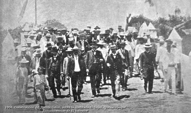 1904 , Quezaltepeque Se construye sobre la quebrada El Coyol, el puente Colón, que unió la ciudad con el Barrio San Juan Guayabal.