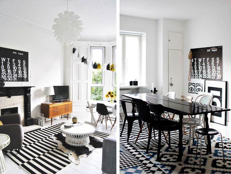 La décoration en noir et blanc est devenue un grand classique mais peut être vite froide et sans personnalité quelques pistes pour lapprivoiser