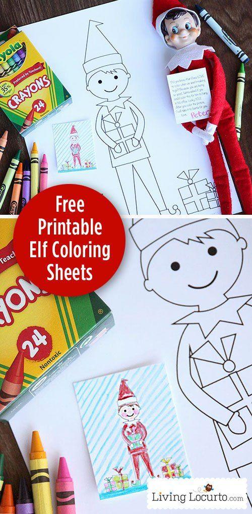 Elf Coloring Sheet Free Printable Christmas Elf On The Shelf