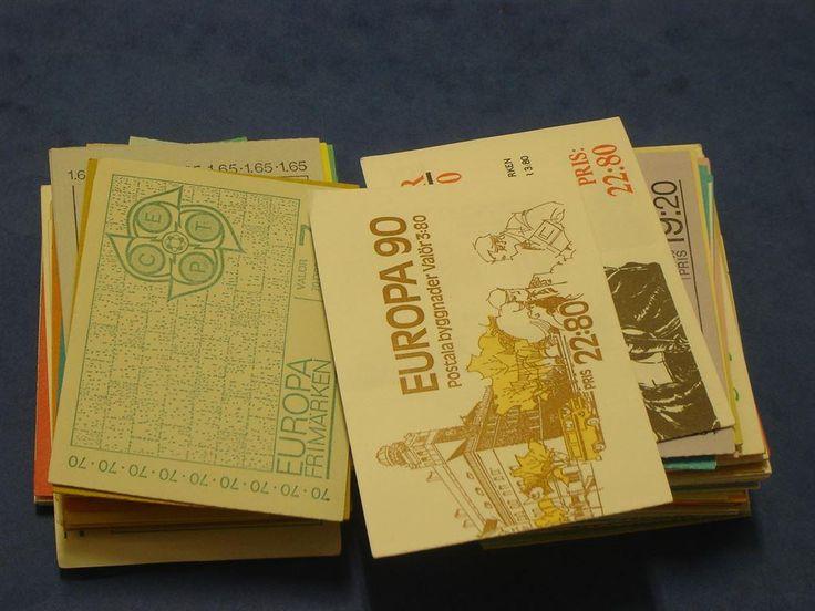 Häften med postfriska frimärken nominal 1000,4 Kr på Tradera.com -