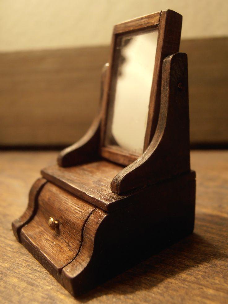 miniature table mirror -piianpeili 1:12 by Erja Helander