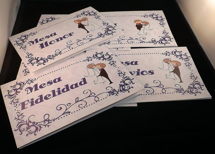 Identificador mesa de matrimonio. Solicitados por Francisca y Manuel. Diseños e Impresiones Peña #dimpena #valparaiso #chile #wedding #matrimonio