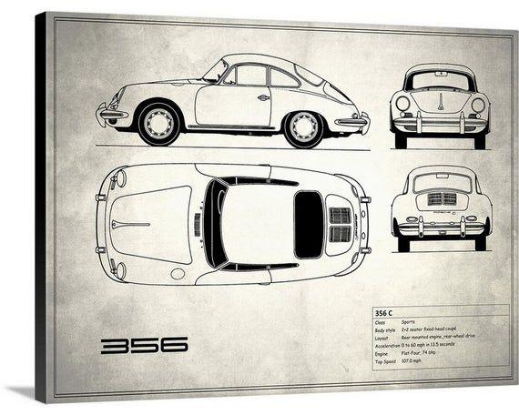 Porsche 356c White Canvas Wall Art Print Etsy Stretch Canvas Stretched Canvas Prints Canvas Prints