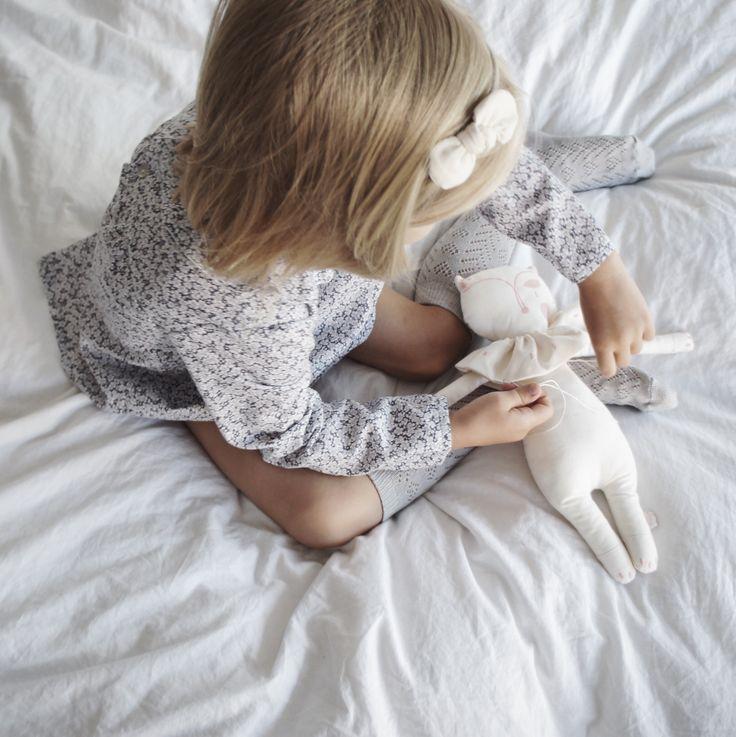 Inorog The Label minimalist embroidered Fox doll - organic cotton & cotton embroidery - original design