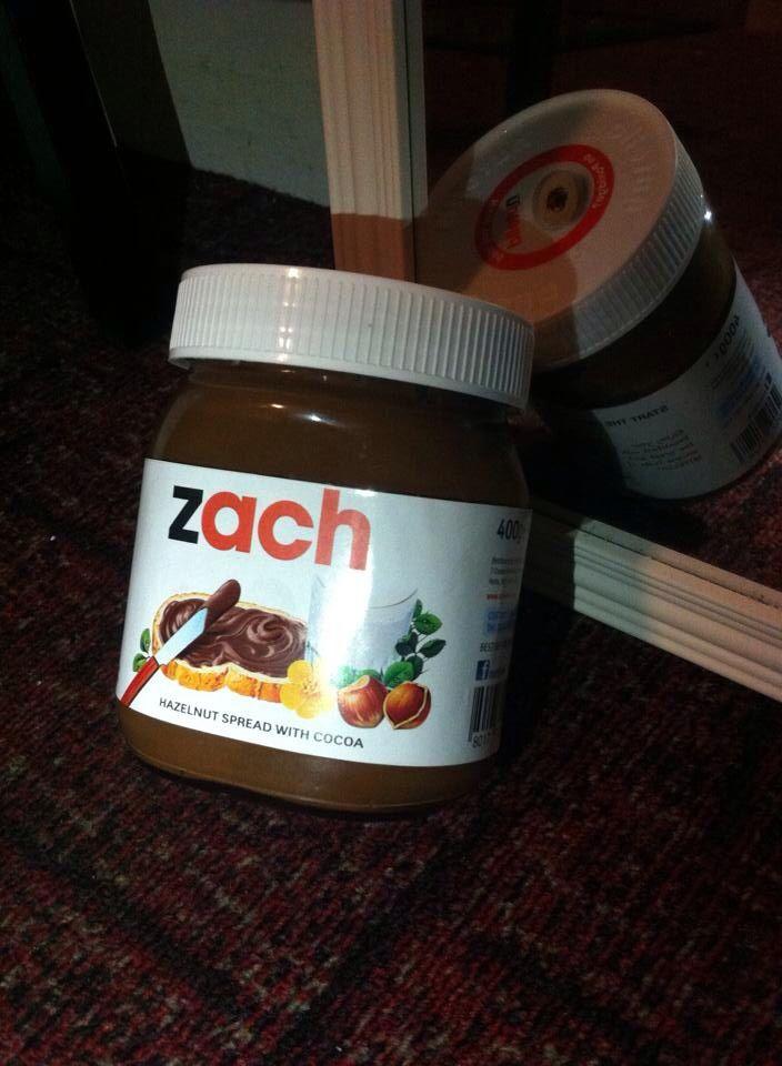 Personalised Nutella jar - from Selfridges
