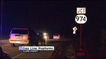 09/21/2011 - The Tennessee Gas Pipeline ruptured in rural Clark County late Tuesday, waking up people counties away.