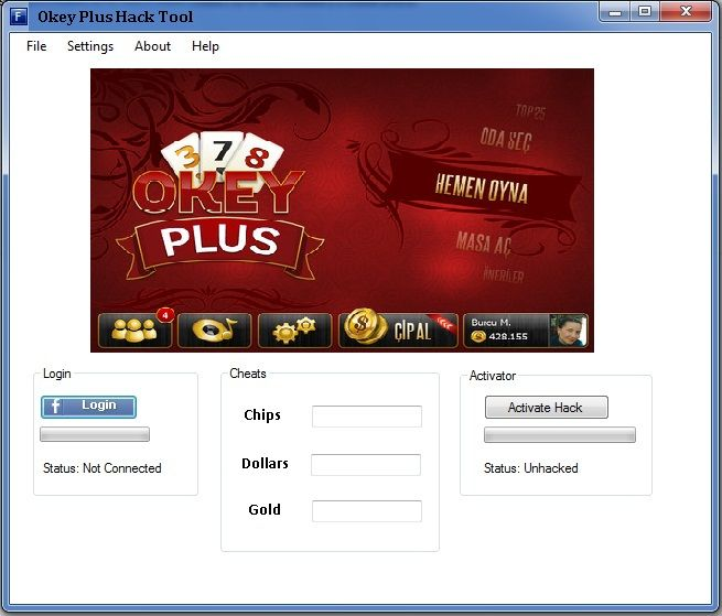 Okey Plus Facebook Hack Cheats Tool Okey Plus is a casino video game developed and published by Peak Games. The last update for the game was