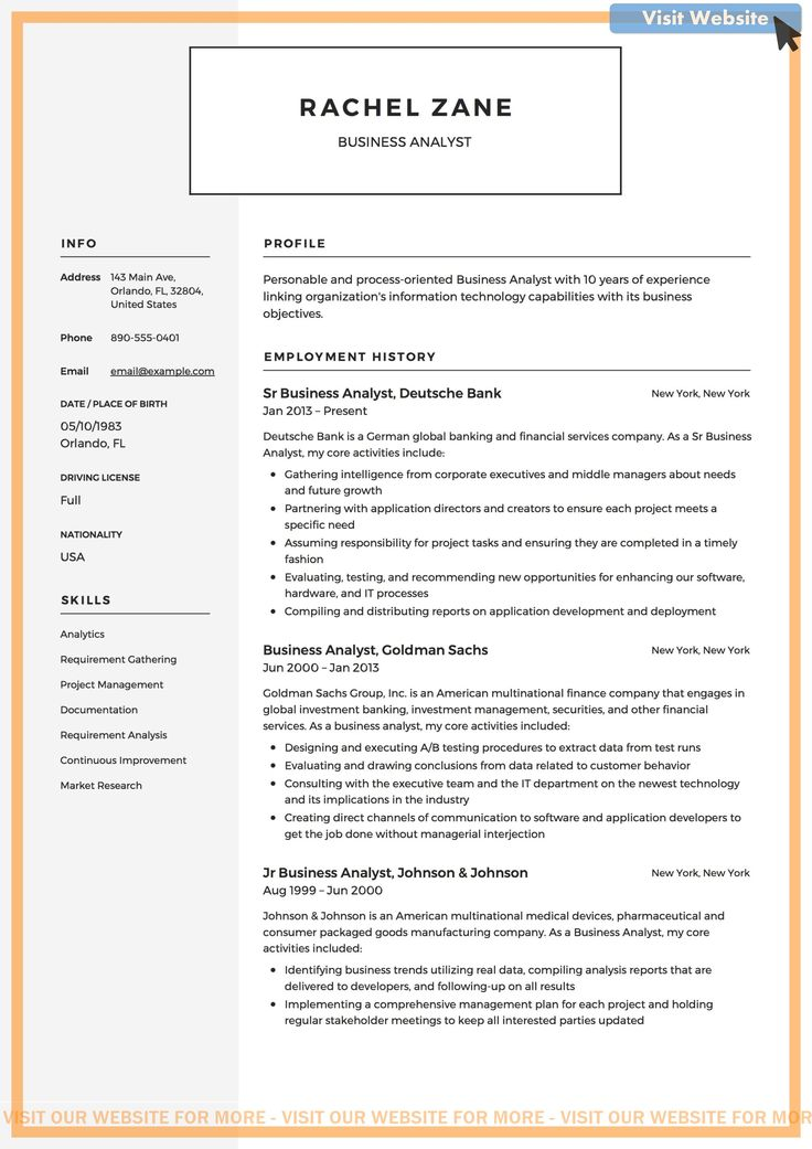 Pin on Business Intelligence Resume Templates