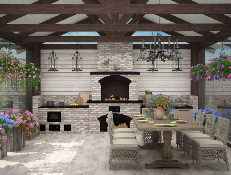 беседка для отдыха : Балконы и веранды в эклектичном стиле от Студия дизайна Дарьи Одарюк