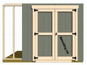 double shed doors
