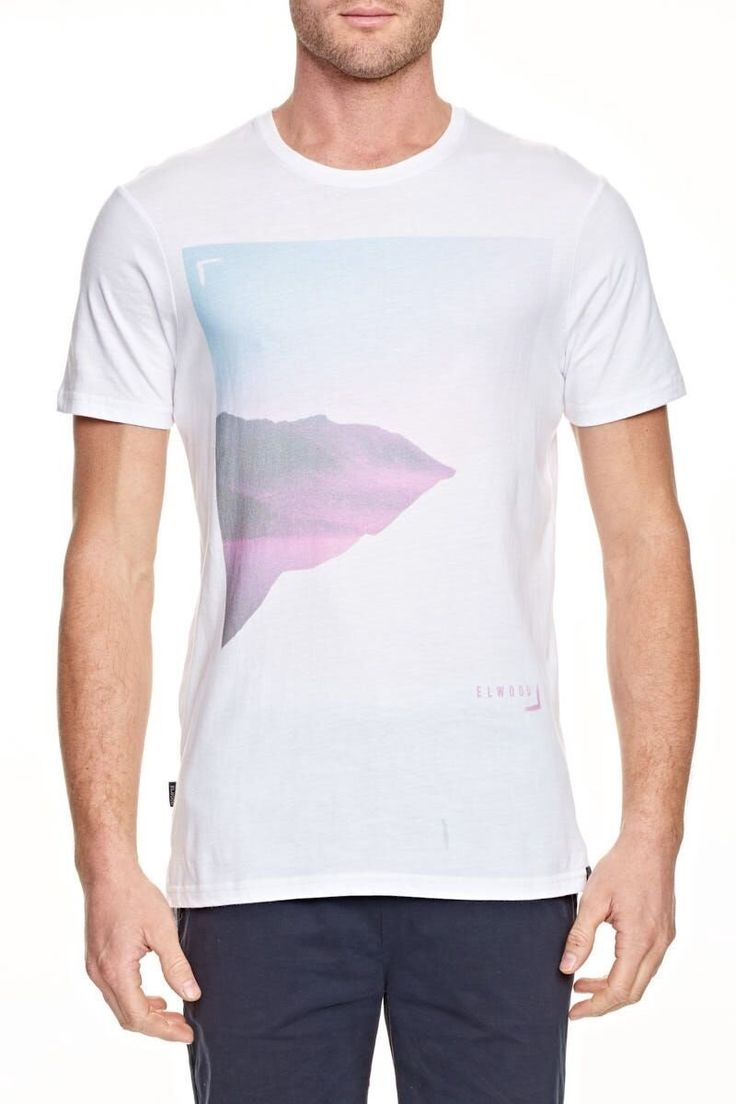 ELWOOD CLOTHING - Torn Step Back Tee White