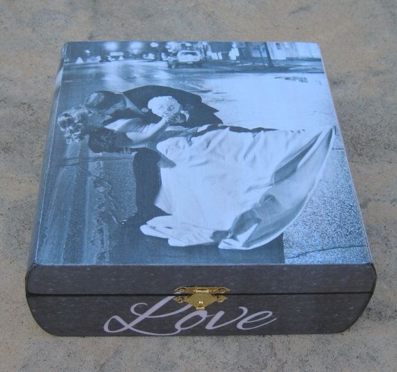Personalized Wedding Keepsake Box, Custom Wedding Anniversary Gift, Father of the Bride Photo Memory Box, Parent Thank You Gift, Love on Etsy, $95.00