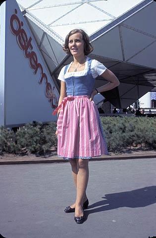 Austrian hostess at Expo 67