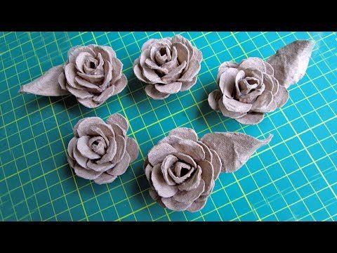 (1) Розы из яичного лотка - YouTube