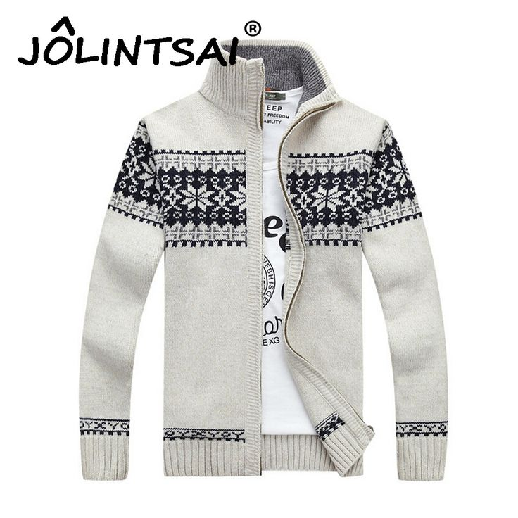 Men Sweaters Hombre 2016 Fashion Winter Wool Cardigan Masculino Jacquard Men's Casual Stand Collar Warm Slim Sweater Men Outwear