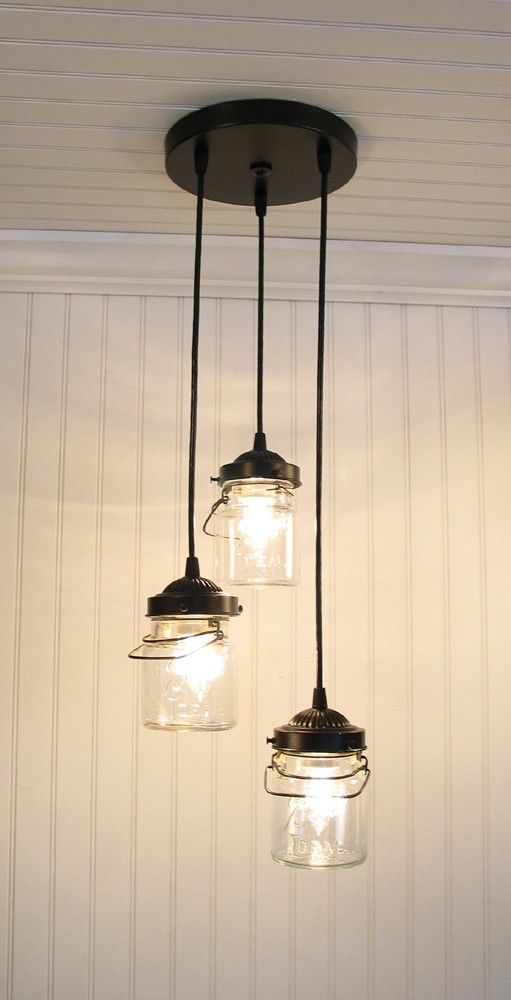 Best 25 mason jar lighting ideas on pinterest mason jar for Hanging lights made from mason jars