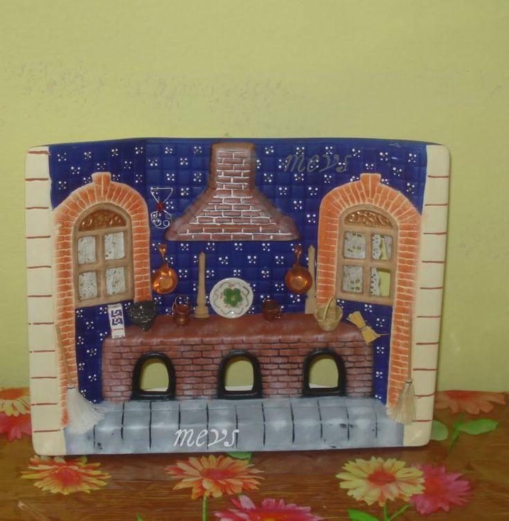 48 best pintura en ceramica images on pinterest for Ceramica para cocina