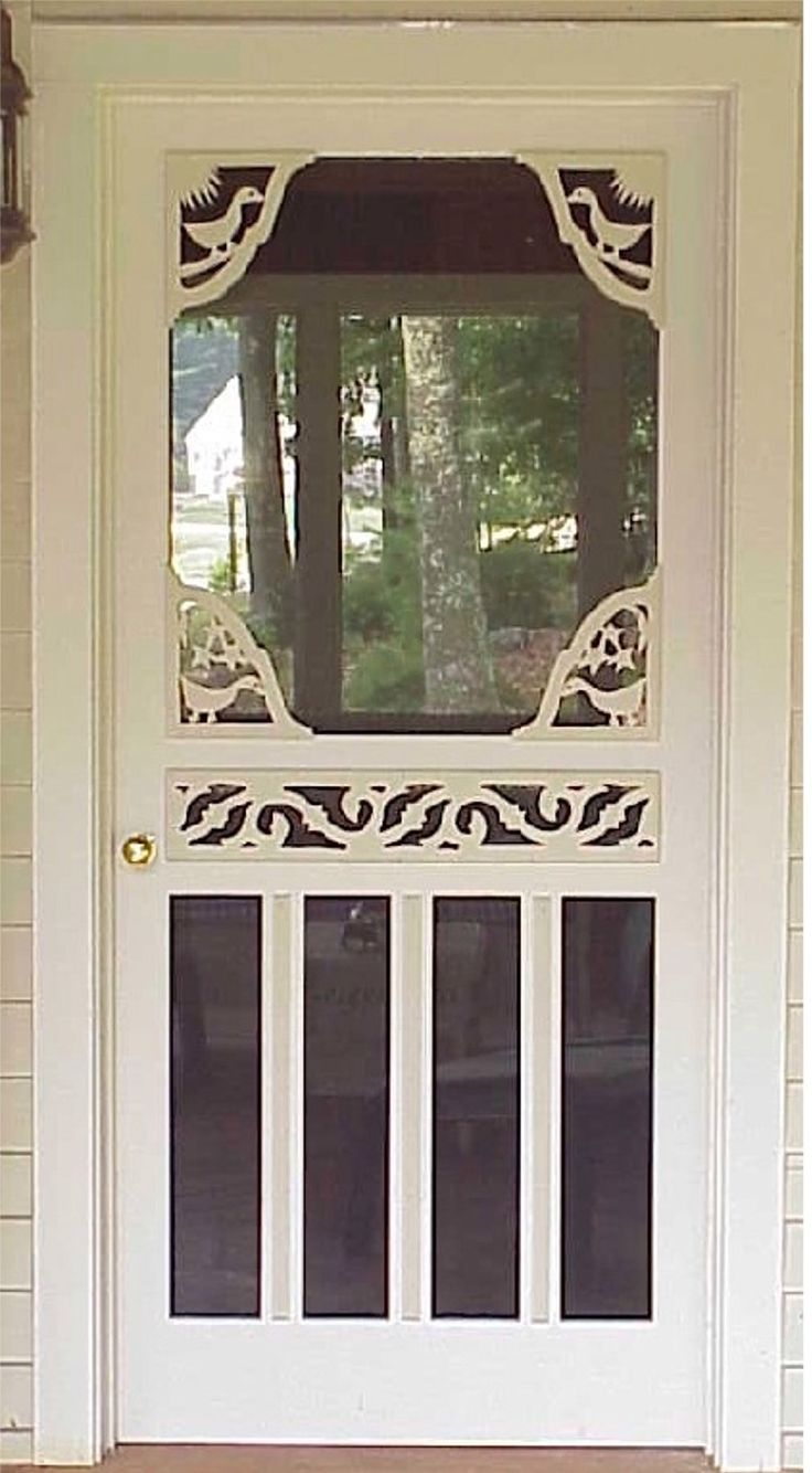 66 best images about security screen doors on pinterest for Screened front entry
