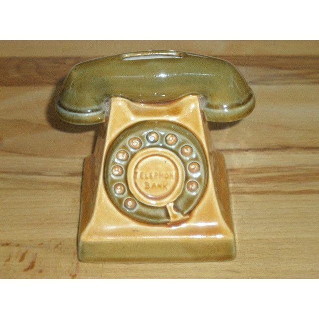 Vintage Szeiler Pottery Telephone Bank Money Box Listing in the Szeiler,Pottery,Porcelain, Pottery & Glass Category on eBid United Kingdom