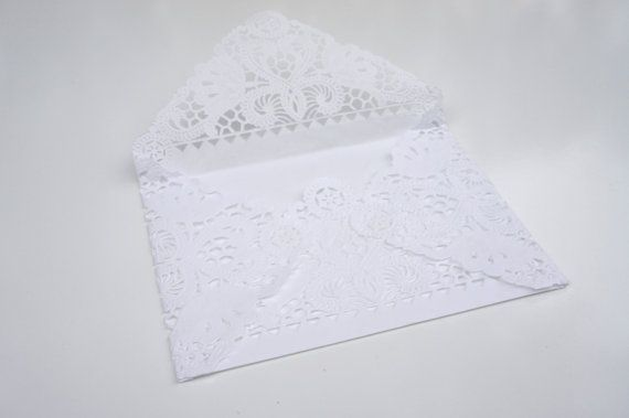 Doily envelope from etsy 25 @ $32.10