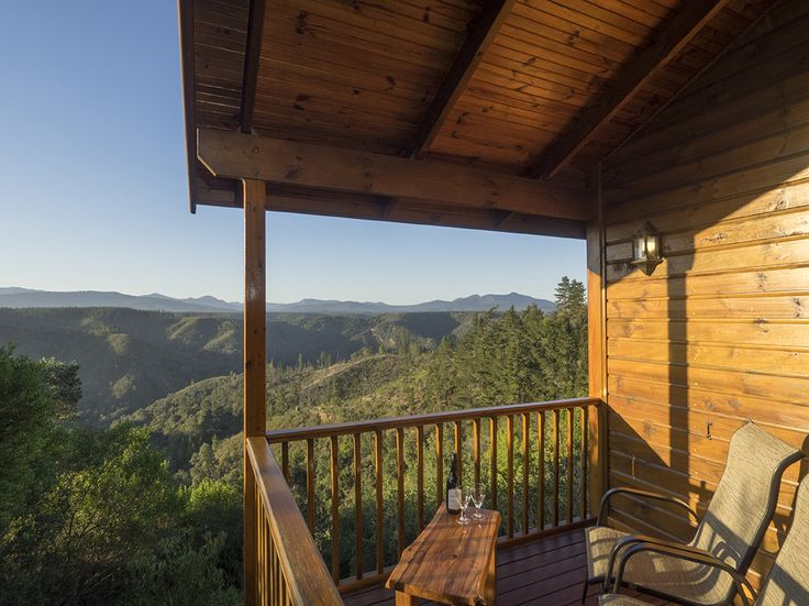 Overlooking the forest from Cliffhanger Cottage deck.