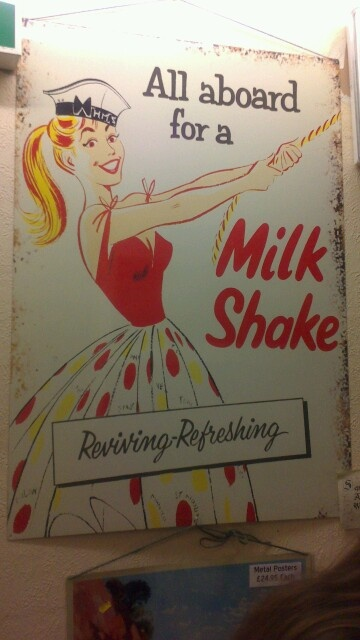 Milkshake sign