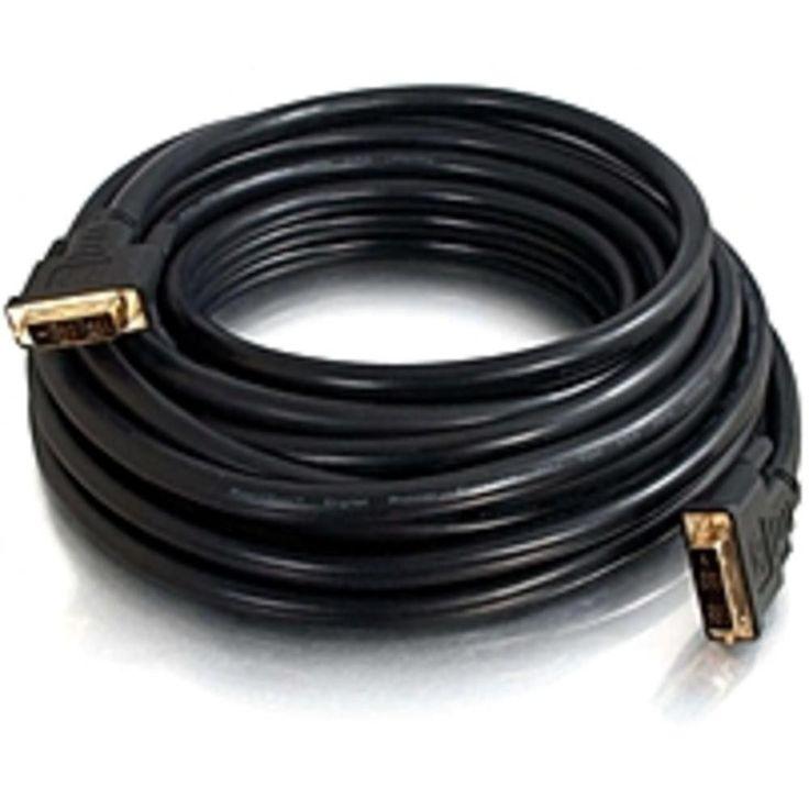 C2G 25 FT Pro Series DVI-D CL2 M-M Single Link Digital Video Cable - DVI - 1 x DVI-D (Single-Link) Male Digital Video - 1 x DVI-D (Single-Link) Male Digital Video - Black