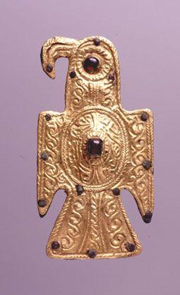 Fíbula aquiliforme visigoda. 480-525 ca.