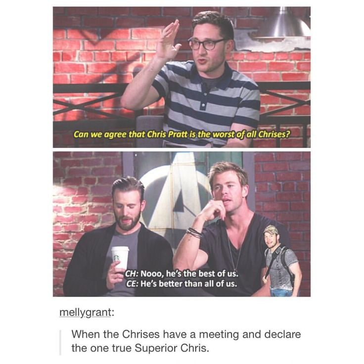 The one Chris to rule them all....