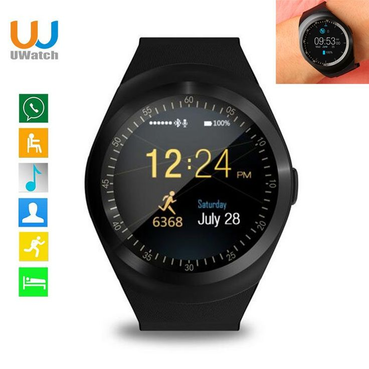 Smart Watch Round Support Nano SIM &TF Card With Whatsapp And Facebook Men Women Business Smartwatch For IOS Android //Price: $15.76//     #shopping