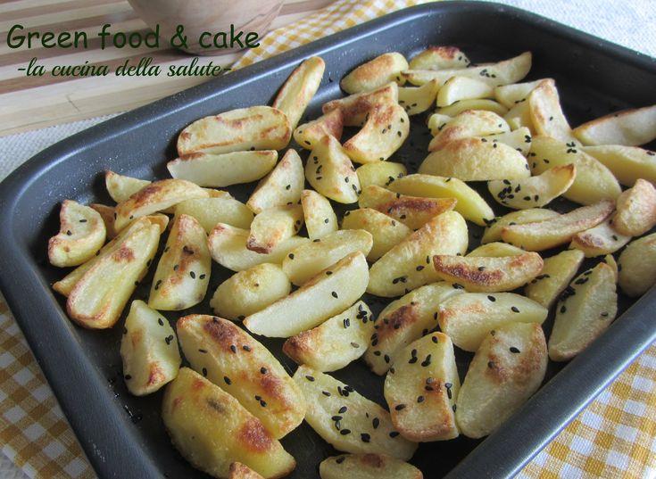 Patate saporite con zenzero e semi di sesamo nero