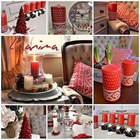Ladíme do červena .... hezkou sobotu! 😊💓💗 Lovely Saturday ! 💞 #sobota #dekorace #cervena #vanoce #svicky #advent #cervenevanoce #redchristmas #decorations #candles #christmas  #czech
