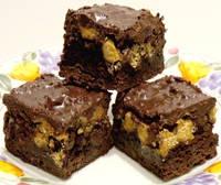 chocolate peanut butter crisp bars recipe fudge brownie receipt