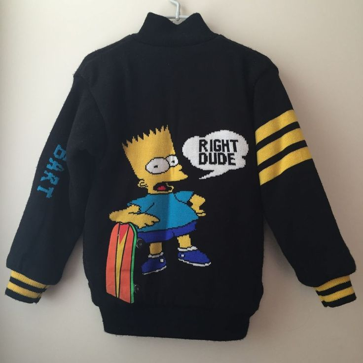 Details about Vintage Bart Simpson Right Dude Sweater ...Black Bart Simpson Do The Right Thing