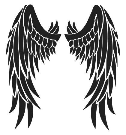 Angel Devil Wings Tattoo Design - Free Black Tribal Feather Wing Stencil ❥❥❥ https://tattoosk.com/angel-devil-wings-tattoo-design-free-black-tribal-feather-wing-stencil#1