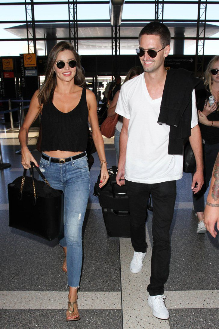 Pin for Later: 5 Stars With Billionaire Boyfriends or Husbands Miranda Kerr and Evan Spiegel