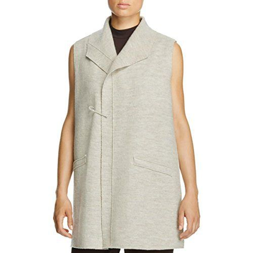 Product review for Eileen Fisher Womens Funnel Neck Sleeveless Sweater Vest.  Eileen Fisher represents modern apparel and accessories versatile enough for any woman's wardrobe. You'll find comfortable, high quality pieces that last. This Eileen Fisher Sweater Vest is guaranteed authentic. It's crafted with 100% Wool.       Famous Words...
