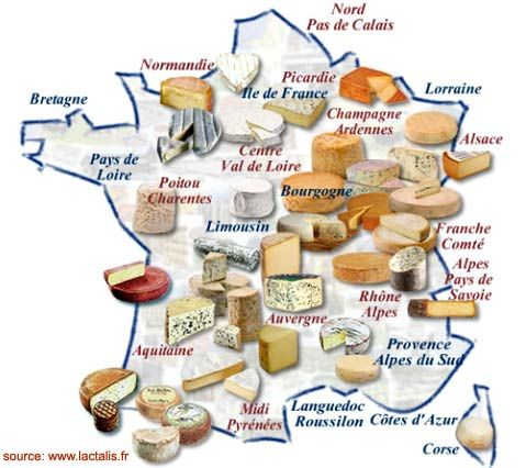 There are approx 400 distinct types of French cheese grouped into eight categories 'les huit familles de fromage'